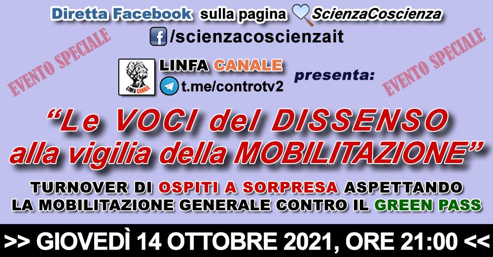 """LIVE su Facebook - """"Le VOCI del DISSENSO alla vigilia della MOBILITAZIONE"""""""